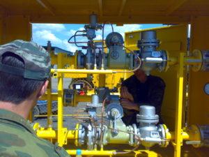 Рабочие газового оборудования
